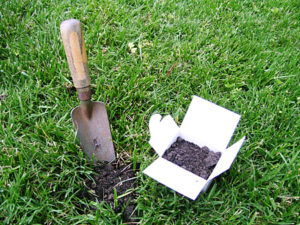 Soil test kit with shovel