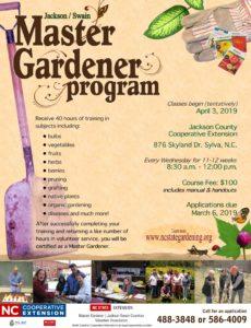Cover photo for Upcoming 2019 Master Gardener Program