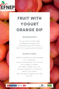 Recipe for fruit with Orange yogurt dip