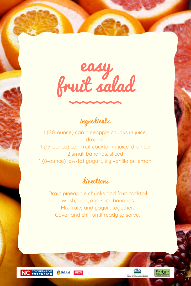 recipe for an easy fruit sald
