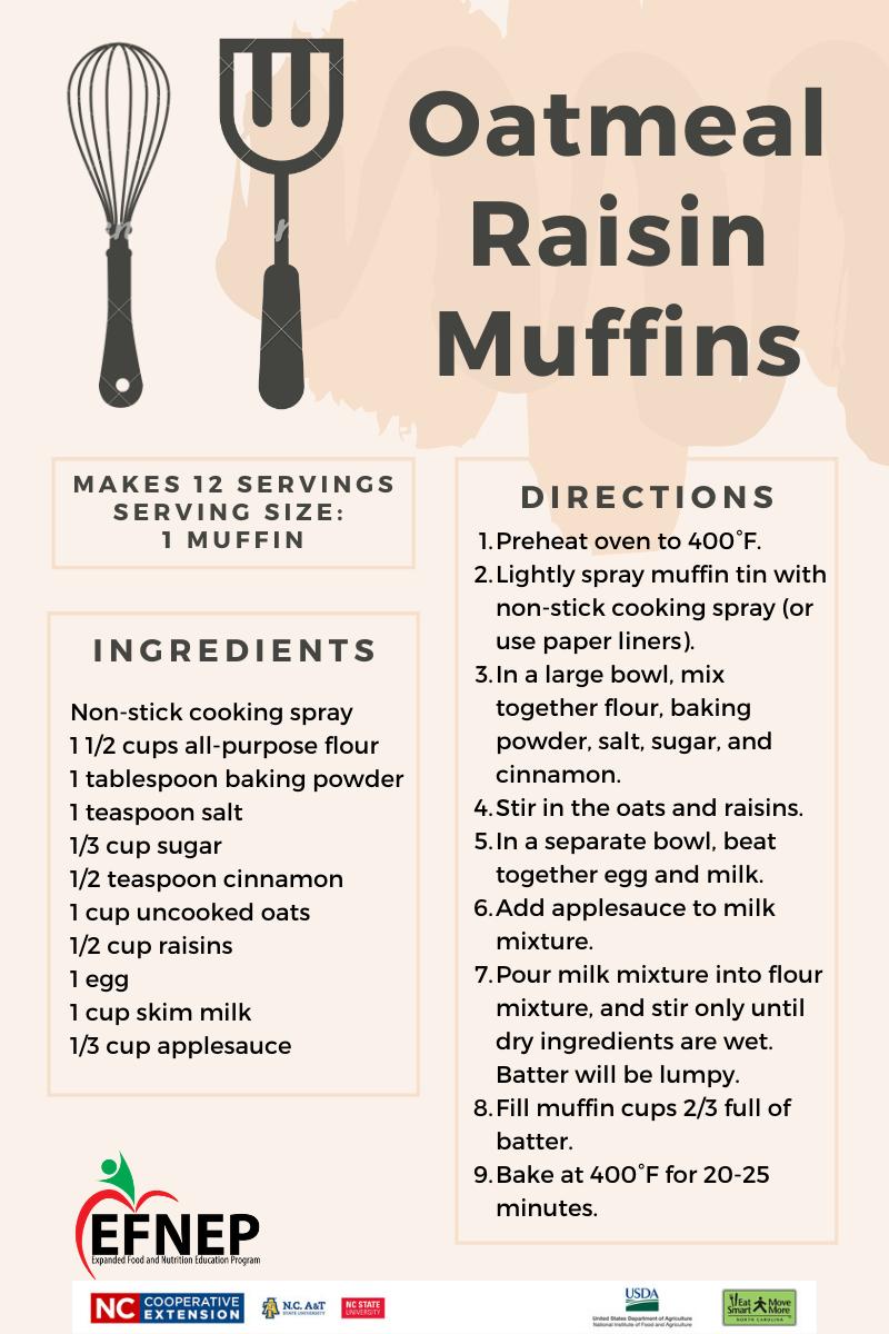 Oatmeal Rasin Muffins