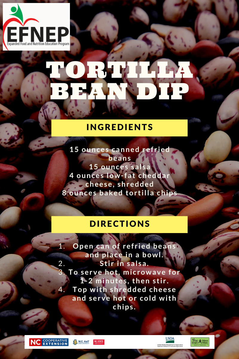 recipe for tortilla bean dip