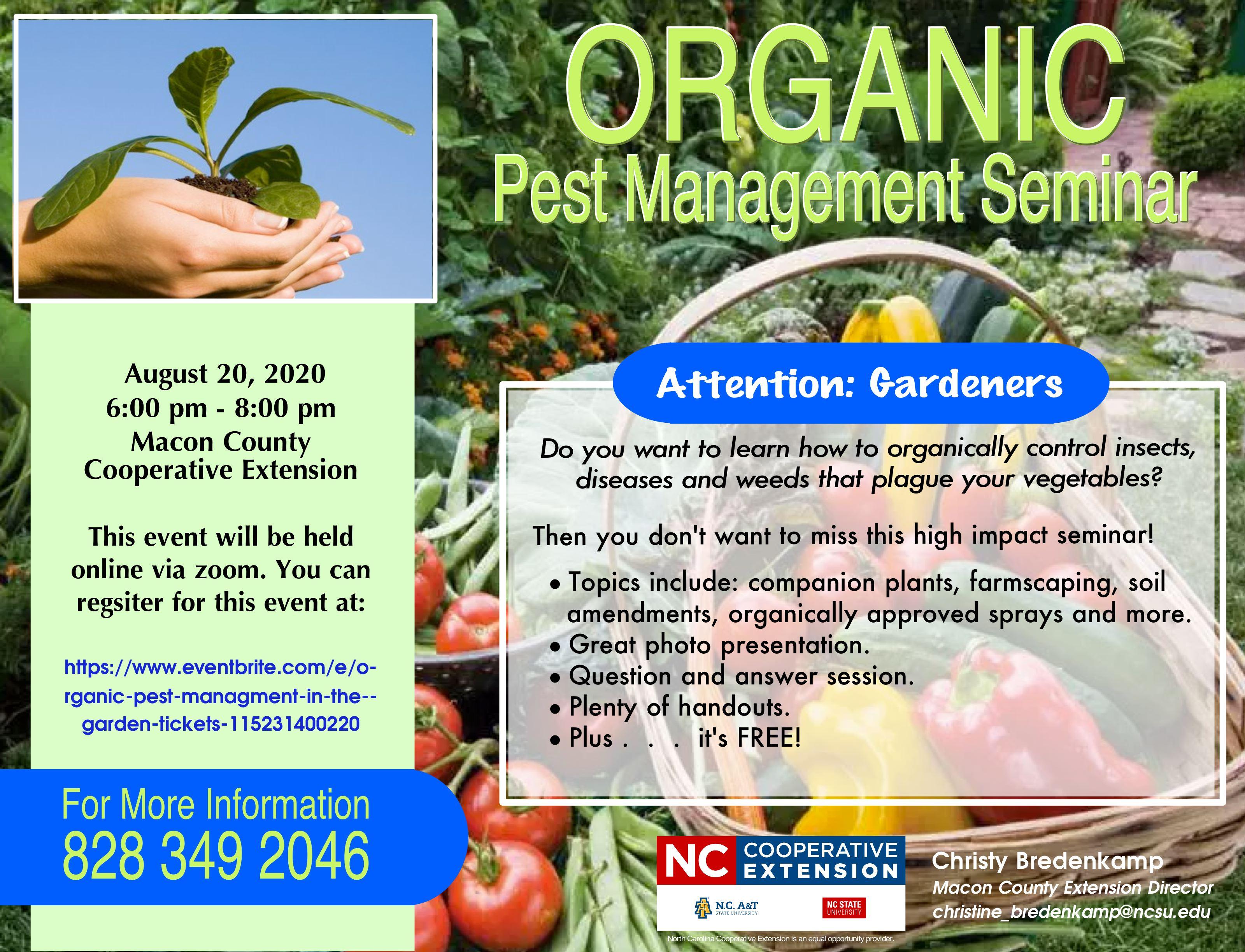 Organic Pest Management Flyer
