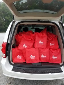 tote bags being delivered