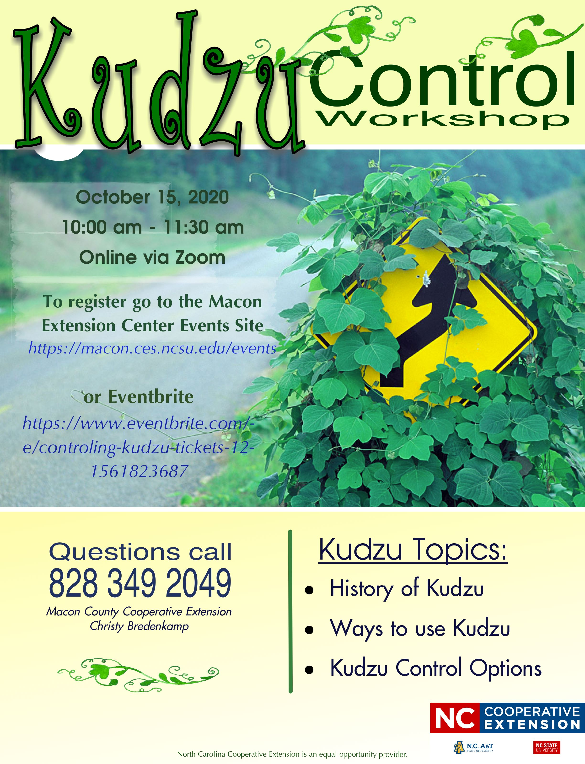 Kudzu Workshop 2020