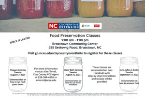 Cover photo for Food Preservation Class Offered!